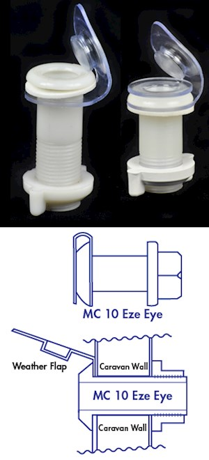 "Mini Compact ""EZE-EYE"" through the wall caravan fitting 50mm"