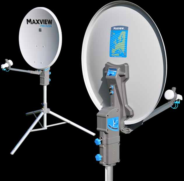 Maxiview Precision Tripod mounted manual satellite system